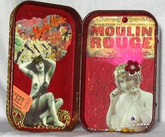 Moulin Rouge Altered Altoid Tin - inside - altered art mixed media collage by chaoticartworks, via Flickr
