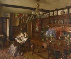 Ocupações para um dia de tédio, 1910 Frank O. Salisbury ( Grã-Bretanha, 1874-1962) óleo sobre tela