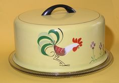 Dianne Zweig - Kitsch 'n Stuff: Vintage Rooster Collectibles: Symbols of Country Life and Simpler Times Vintage Canisters, Vintage Kitchenware, Vintage Tins, Vintage Dishes, Vintage Love, Vintage Decor, Vintage Antiques, Retro Vintage, Vintage Stuff