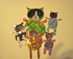 Rock N Roll Kittys by kittykittycupcake on Etsy, $25.00