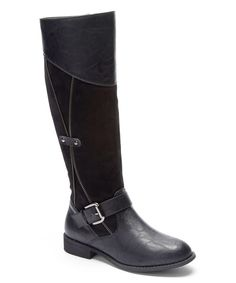 Look at this Black Oksana Boot on #zulily today!