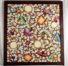"""Gil Yojcom Original Painting """"Cosechando Maiz"""" Signed"""