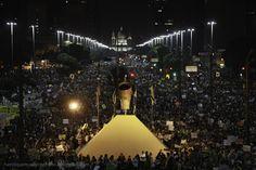Avenida Presidente Vargas durante protesto no Rio de Janeiro. 20/06/2013.