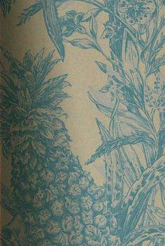 Timorous Beasties Wallcoverings - Pineapple