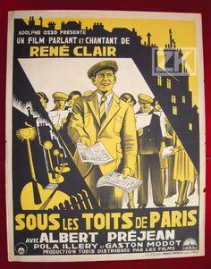 SOUS LES TOITS DE PARIS René CLAIR Partition Rue MEERSON Tobis Osso Affiche 1930 in DVD, cinéma, Objets de collection, Affiches, posters | eBay #chrisdeparis 950€