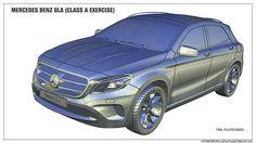Mercedes Benz GLA, Class A Project on Behance