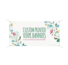 Your place to buy and sell all things handmade Latex Allergy, Custom Vinyl Banners, Fairy Crafts, Fairy Furniture, Shower Banners, Banner Printing, Custom Items, Sign, Printed