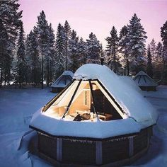 Igloo in Finland  by Joonas Linkola