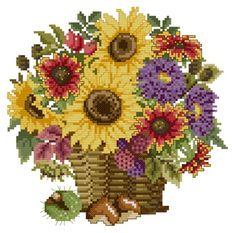 """Flowerbasket """"Autumn"""" by Ellen Maurer-Stroh"""