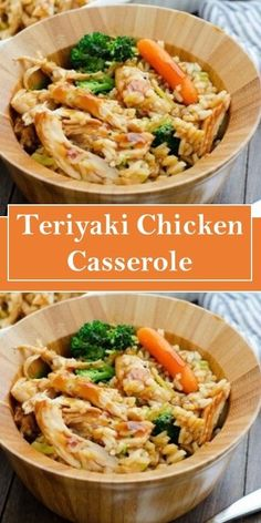 ★★★★ Teriyaki Chicken Casserolè #cookies #cake #cooking #terriyakichickencasserole Yummy Chicken Recipes, Easy Delicious Recipes, Raw Food Recipes, Asian Recipes, Crockpot Recipes, Cooking Recipes, Freezer Recipes, Healthy Recipes, Drink Recipes