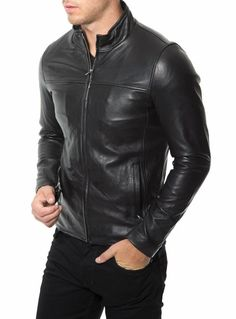New Arrival Men Real Lambskin Motorcycle Premium Quality Leather Biker Jacket 12 #AriesLeathers #Motorcycle