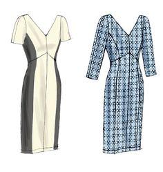 Vogue 8997 (Summer 2014) -- Love the curved waist and sleek princess seams