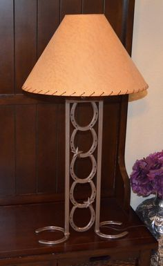 Horseshoe Table Lamp with Stars (without lamp shade)