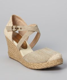This Coconuts Natural Canvas Hepburn Espadrille by Coconuts is perfect! #zulilyfinds