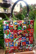 M&M Candy wrapper TOTE, handmade,M&M purse, candy purse, gum wrapper,bag,eco,