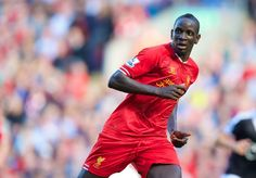 LIVERPOOL, ENGLAND - Saturday, September 21, 2013: Liverpool's Mamadou Sakho in action against Southampton during the Premiership match at Anfield. (Pic by David Rawcliffe/Propaganda)
