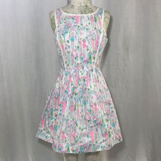 NWOT Lilly Pulitzer POP Sandrine Cotton Sun Dress Sz 2 Resort White HOLY GRAIL #LillyPulitzer #FullCircleSkirtDress