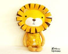 Lion Sewing Pattern PDF Softie DIY Toy by DollsAndDaydreams