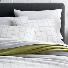 Maxwell Twin Duvet Cover | Crate and Barrel