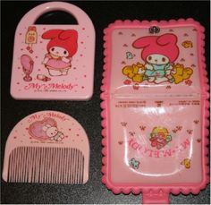 SANRIO VINTAGE MY MELODY WALLET COMB / MIRROR CASE (MISSING MIRROR)
