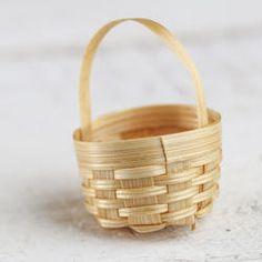 Mini Wicker Basket - Miniatures - View All - Dollhouse Miniatures - Doll Making Supplies - Craft Supplies