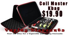 June 30, 2015 Coil Master KBag Coil Master has just released one of the best vape bags I have seen in a very long time, if ever. The new Coil Master Kbag is a rugged case for all of your vape gear. Keep your eliquid, ecigarette mods, atomizers and wicking supplies in one place. The …