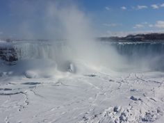 Time-lapse: Rainbow moving in mist of frozen Niagara Falls, made with a Zeitdice time-lapse camera. Time Lapse Camera, Danse Macabre, Niagara Falls, Mists, Rainbow, Videos, Travel, Voyage, Rainbows
