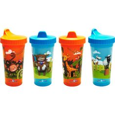 USA Kids- 4 Pack Sippy Cup $12 (Wal-mart)  Made in the USA to meet US safety and quality standards