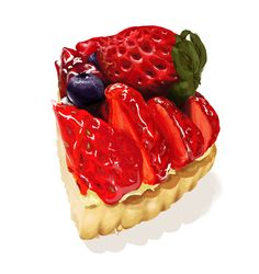 Berry tart by kkzt.deviantart.com on @DeviantArt