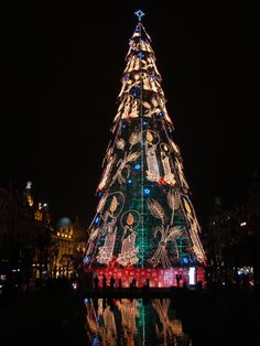 Christmas tree Porto, Portugal
