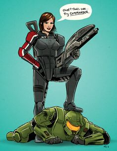 I personally think that Master Chief and Femshep could destroy the universe if they started fighting