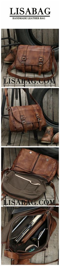 912ea0bc2 Handmade Unisex Messenger Bag Top Grain Leather Travel Bag Crossbody Bag  Leather Satchel 9042
