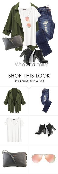 """Untitled #3826"" by tanyaf1 ❤ liked on Polyvore featuring H&M, SWEET MANGO, Coach and Ray-Ban"