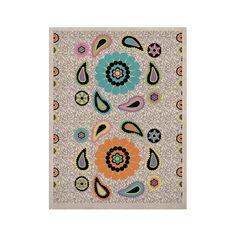 "Nina May ""Moda Paisley"" Paisley Flower KESS Naturals Canvas (Frame not Included)"