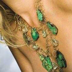 Devon Leigh Amethyst & Green Turquoise Necklace