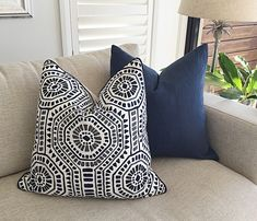 Navy Pillows for Couch . Navy Pillows for Couch . Navy Blue Couches, Navy Blue Bedding, Navy Blue Pillows, Blue Cushions, Scatter Cushions, Moroccan Cushions, Blue Bedroom, Master Bedroom, Bohemian Bedroom Decor
