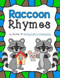 Back To School Raccoon Rhymes: a fun matching activity for your literacy centers! Students match the rhyming pictures and then complete a cut Rhyming Kindergarten, Beginning Of Kindergarten, Kindergarten Language Arts, Beginning Of School, Kindergarten Reading, Teaching Reading, Back To School, Preschool, Learning