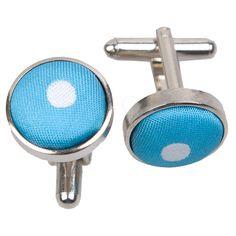 Polka Dot Robin's Egg Blue Cufflinks - http://www.dqt.co.uk/polka-dot-robin-s-egg-blue-cufflinks.html