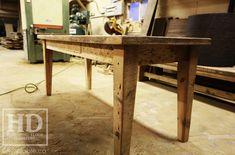 Ontario Reclaimed Wood Custom Furniture HD Threshing Floor Furniture / www.hdthreshing.com Visit our showroom in Cambridge, Ontario! Ontario Heritage Being Preserved