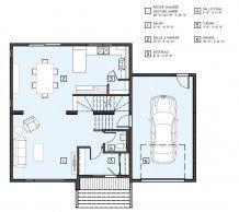 Maison neuve - Cottage, modèle Archipel Multi Family Homes, House Floor Plans, Tiny House, Engineering, Villa, Cottage, Flooring, How To Plan, Houses