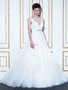 Princess Sleeveless Zipper Wedding Dresses 2014