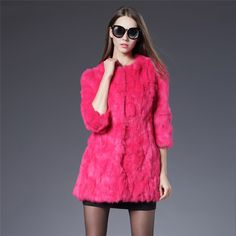 >> Click to Buy << Women Real Rabbit Fur Jacket Cand Colors Genuine Fur Coats Womens Fashion Outwear High Quality Winter Autumn Brand Sale Fur Coat #Affiliate