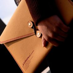 """Non-Tear Mac Air 11"""" Envelope by EVOUNI - The material is made with lightweight fibrous tear-proof paper. Using a special pulping process, it is both water and tear resistant. This timeless piece is a perfect reminiscence of traditional elegance with a modern appeal. $29 