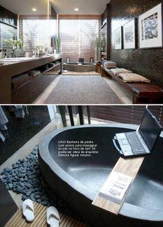 stone bathtub #decor #bathroom