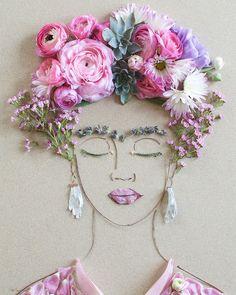 """Vicki Rawlins ist in der Botanical-Art aktiv. In """"Flower Prints"""" arrangiert sie Blumen und sonstige Fundstücke aus Mutter zu imposanten Portraits."""