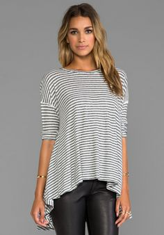 Free People In The Sand Tee in Ivory/ Balck