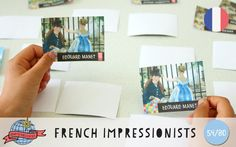 French Impressionism Memory Game | France | Around the World in 80 Days | Moomookachoo