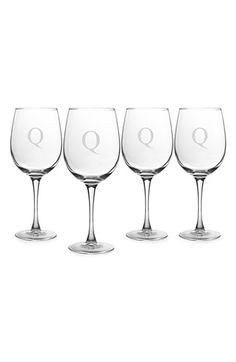Cathy's Concepts Personalized White Wine Glasses (Set of 4)