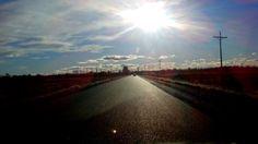 La ruta, sólo para mi. Camino a Gaiman Chubut Argentina.