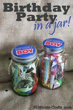 Make A Birthday Party In Jar Christmas Jars Gifts Mason Crafts